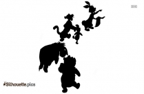 Pooh And Piglet Christmas Silhouette