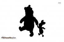 Winnie The Pooh And Piglet Holding Hands Silhouette Art
