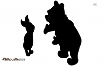 Pooh And Friends Silhouette Drawing