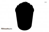 Popcorn Bucket Silhouette