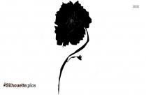 Poppy Flower Silhouette Clipart Image