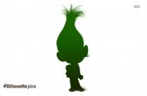 Cute Poppy Troll Silhouette Clip Art Image Free Download