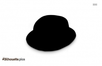 Trilby Hat Silhouette Image