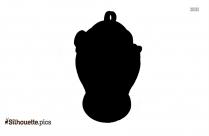 Black Greek Vase Silhouette Image