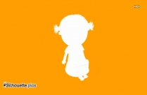 Funny Cartoon Baby Walking Silhouette
