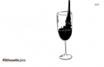 Pouring Wine Into Glass Silhouette Picture