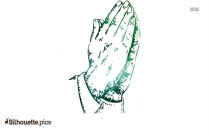 Praying Hands Clip Art Vector Silhouette