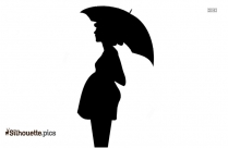 Sitting Pregnant Woman Silhouette