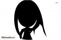 Pretty Girl Silhouette Clip Art