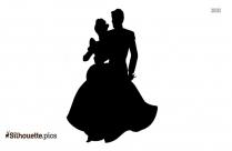 Prince Charming And Princess Cinderella Silhouette