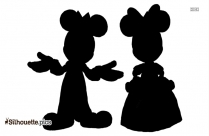 Prince Mickey And Princess Minnie Mouse Silhouette
