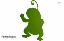 Cute Cartoon Frogs Silhouette Drawing