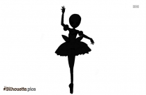 Female Dancer Silhouette Drawing