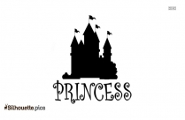 Princess Castle Silhouette PNG