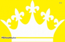 Princess Crown Silhouette Free Vector Art