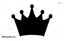 Simple Queen Crown Drawing Silhouette Art