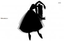 Japanese Dance Silhouette Image