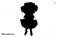 Cartoon Dora The Explorer Silhouette Image