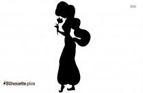 Princess Jasmine Aladdin Clipart Silhouette