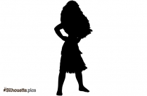 Silhouette Of Queen With Crown