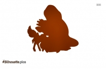 Princess With Her Pet Silhouette