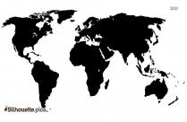 Printable World Map Silhouette