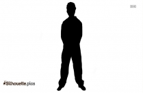 Cartoon Guy Silhouette Free Vector Art