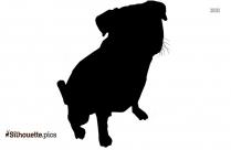 Cartoon Dog Silhouette Background