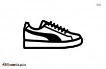 Sneaker Silhouette Art
