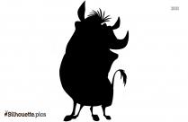 Pumbaa Dancing Silhouette Clip Art