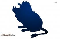 Pumbaa Silhouette Illustration