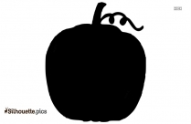 Pumpkin Black And White Silhouette Vector