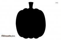 Halloween Pumpkin Vegetable Silhouette