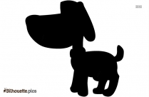Black Dog Silhouette Image