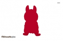 Cute Baby Puppies Silhouette Image And Vector