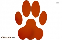 Pet Paws Silhouette Image And Vector