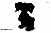 Puppy Silhouette Transparent Background