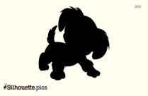 Cute Dog Silhouette Image