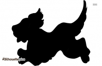 Cute Droopy Dog Cartoon Silhouette Image