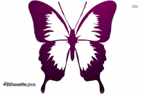 Purple Butterfly Picture Silhouette