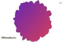 Purple Color Daisy Clipart, Flower Silhouette