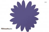 Black Daisy Fuchsia Silhouette Image