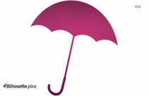 Purple Umbrella Silhouette, Colorful Clipart
