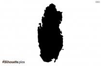 Qatar Map Black And White