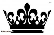 Queen Crown Design Silhouette Clipart