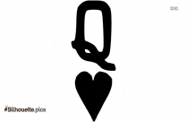 Queen Of Hearts Symbol Silhouette Image