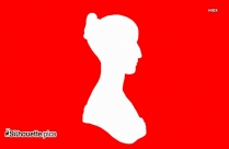 Black Woman Head Silhouette Image
