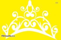 Queen Tiara Crown Silhouette