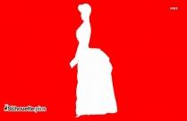 Queen Victoria  Clipart || Old Fashioned Victorian Woman Silhouette
