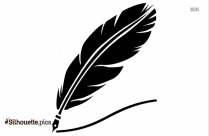 Quill Feather Pen Icon Silhouette